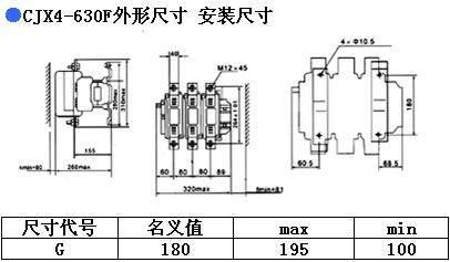 CJX4-630F交流接触器尺寸